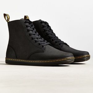 Black Leather Dr. Martens boots